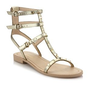 Rebecca Minkoff Studd Gold Sandals